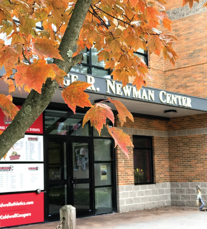 Photo of the Newman Center in the fall