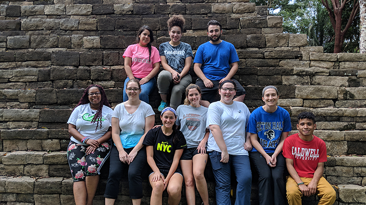 Group of Caldwell University Student during their services