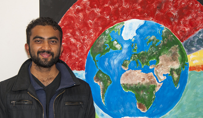 Alumni Anup Khanal at Climate Change Convergence