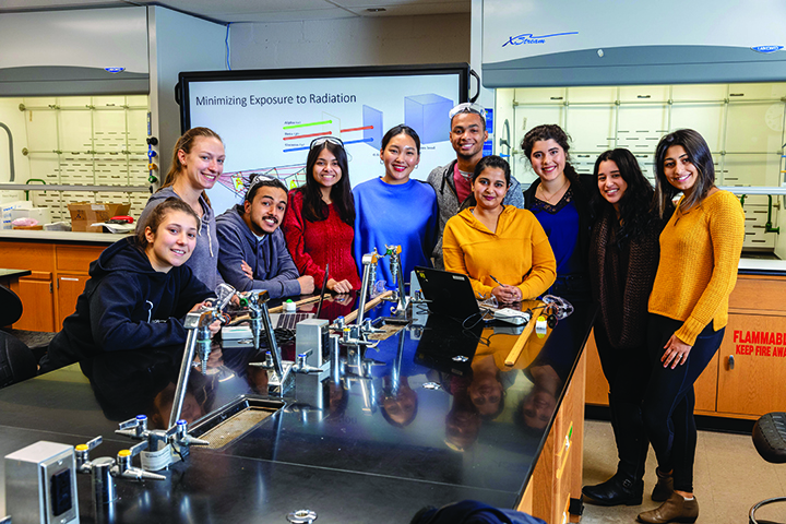 Group of Chemistry Students in a Chemistry Lab