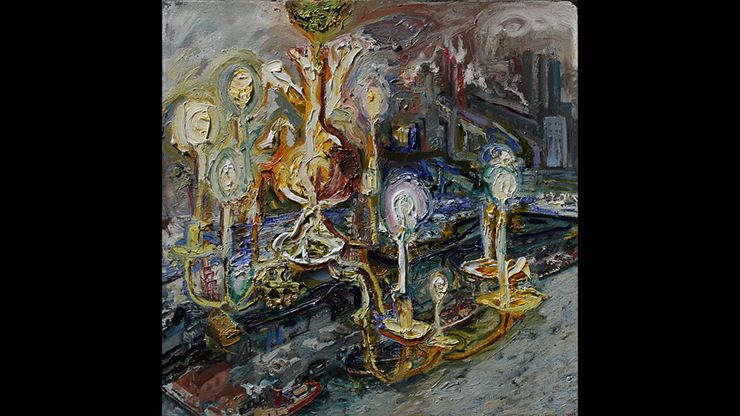 """Lizbeth Mitty Chandalier, Cold Day, 2015, oil on canvas, 24' x 24"""""""