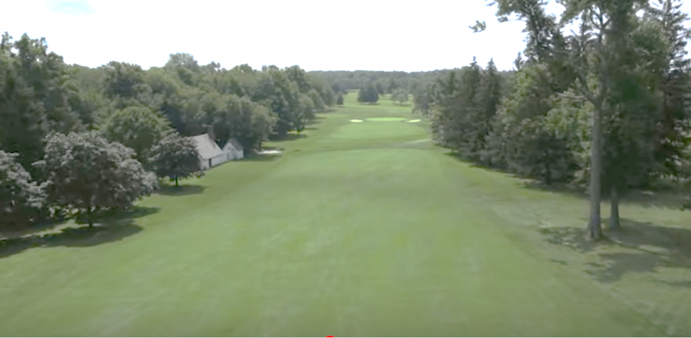 """A look down the fairway at Essex Fells Country Club's famed Hole #1 where the """"Mulligan"""" was born!"""