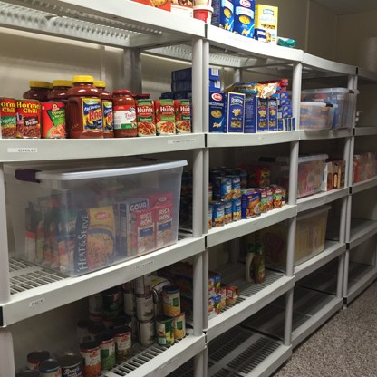 Picture of Food Items in Cougar Food Pantry