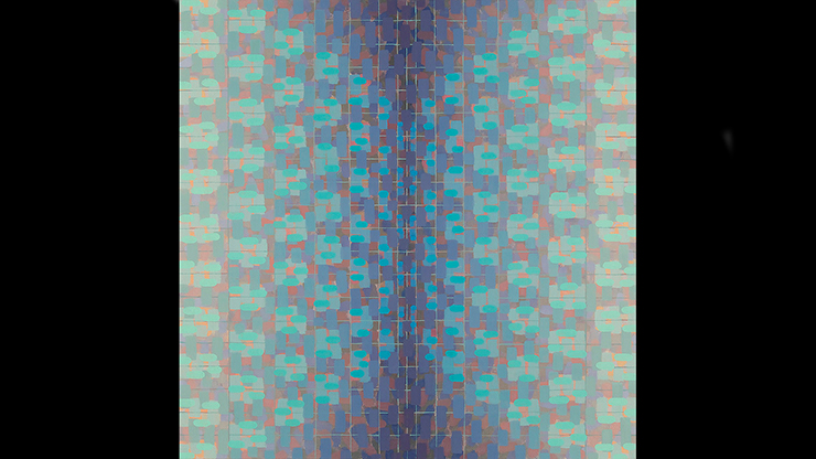 "Rachael Wren, Blue Yonder, 2013, oil on canvas, 13"" x 13"""