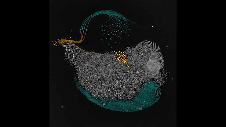 "Paula Overbay, Dream I, 2018, oil on panel, 22"" x 22"""