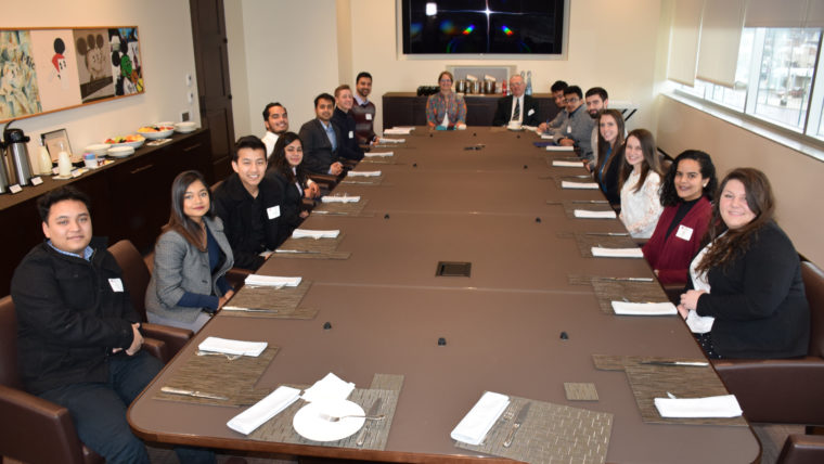 J . P. Morgan executive Alma DeMetropolis hosted a roundtable for Caldwell undergraduate and graduate students