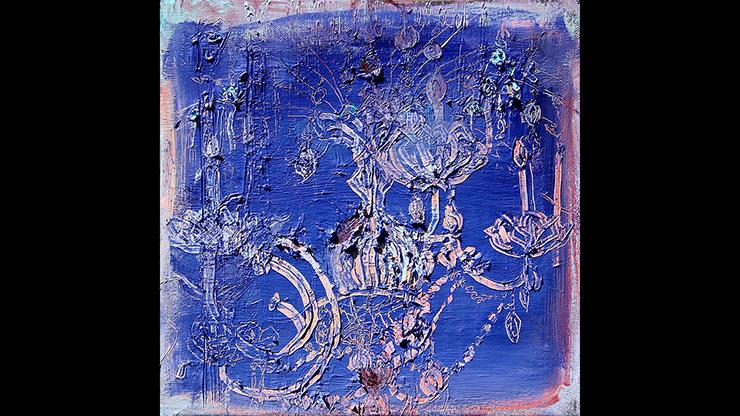 "Lizbeth Mitty, Tumble, 2017, oil on canvas, 12"" x 12"""