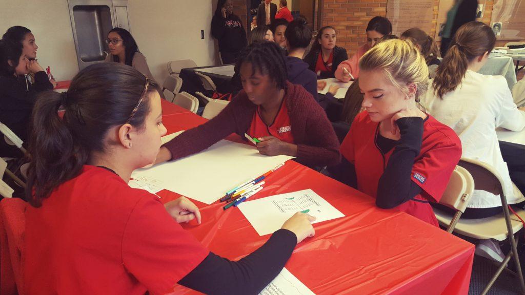 Caldwell University students studying.