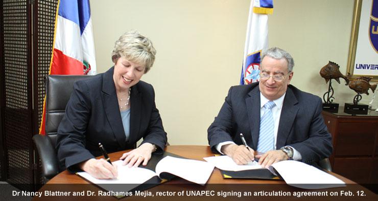 De. Nancy Blattner with Dr. Radhames Mejia