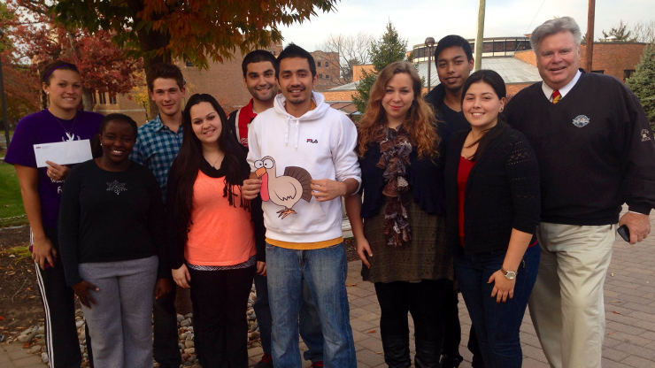 Group of Caldwell University clubs representatives