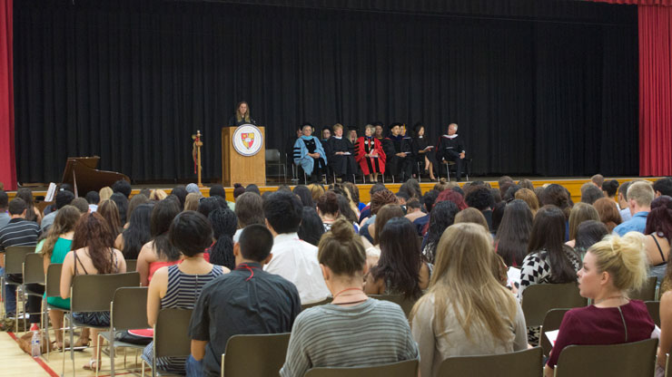 Incoming Students at Student Convocation