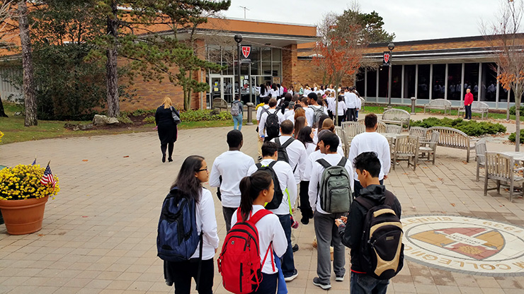 Caldwell Students Celebrating 800 years of Dominican Family