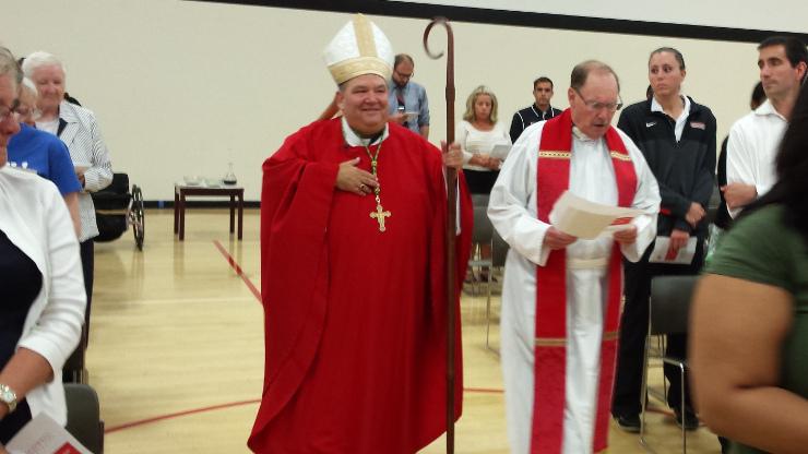 Archbishop Hebda with Father Al Berner
