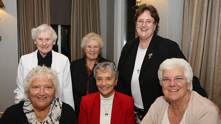 Sister Vivien Jennings with other faculty members.