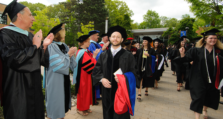 Students receiveing applauds from Faculty and Guests