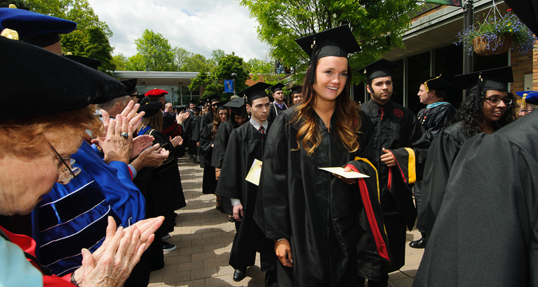 Students Arriving at Caldwell University's 72nd Commencement Ceremony