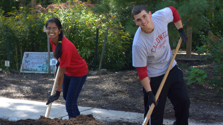 Caldwell Volunteers on Day of Service 2013