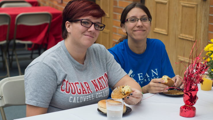 Caldwell Students Enjoying Lunch at Homecoming Event