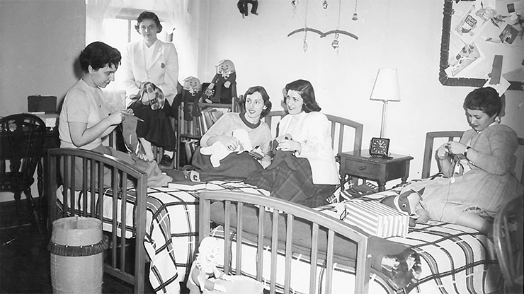 Dormitory in Rosary Hall 1950s