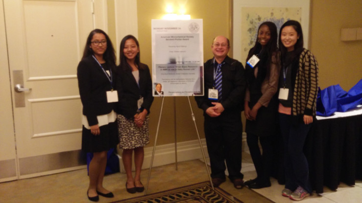 Caldwell Students Presenting Poster at Eastern Analytical Symposium