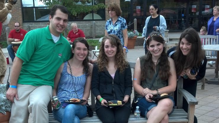 Students at Homecoming 2013