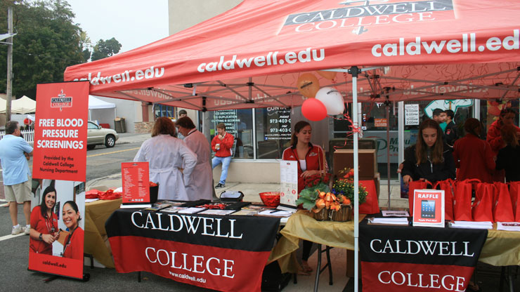 Caldwell University Stall at 22nd annual Kiwanis/Rotary Caldwell Street fair