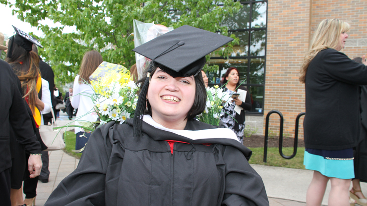 Caldwell Student after her graduation
