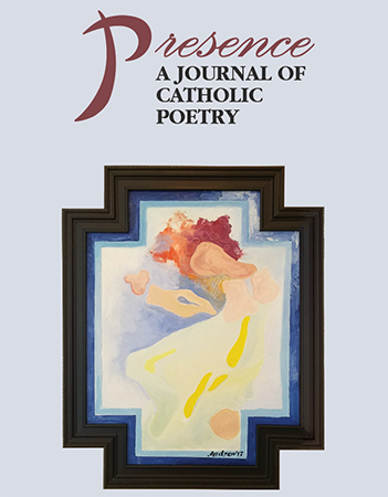 Front page of the annual journal Presence, A Journal of Catholic Poetry.