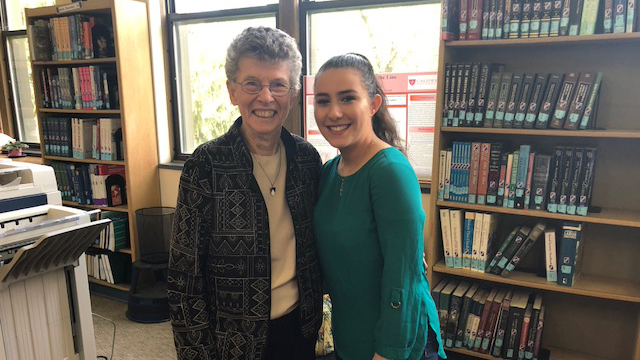 Caldwell University Student posing with the Sister whom she chose for the final Sister Story Project.