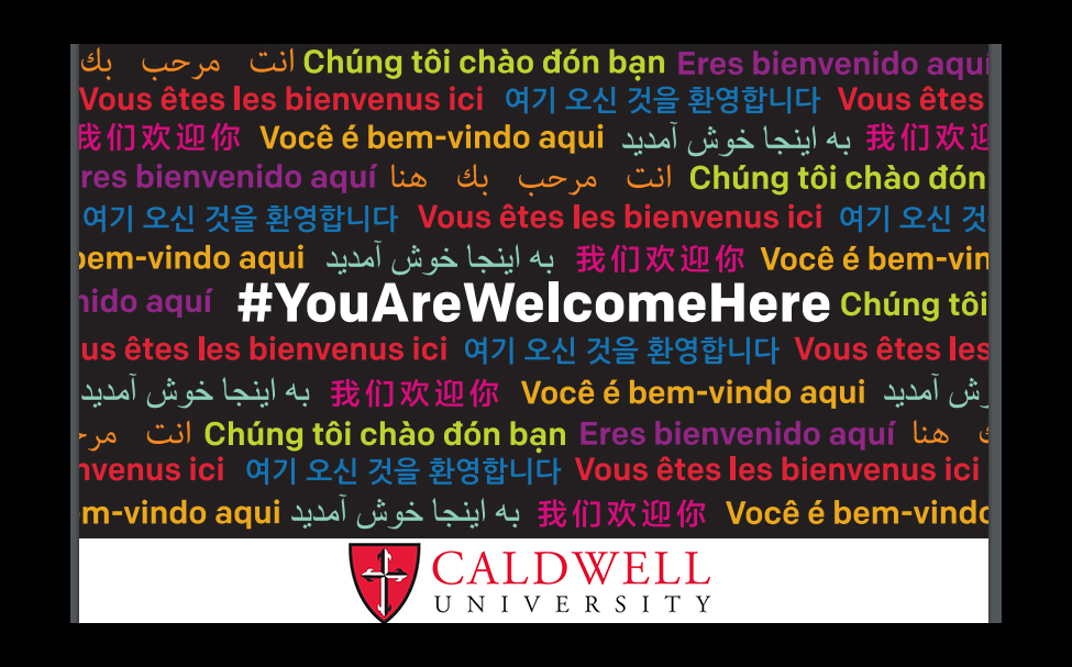 "Flyer with ""You Are Welcome Here"" written in different language"