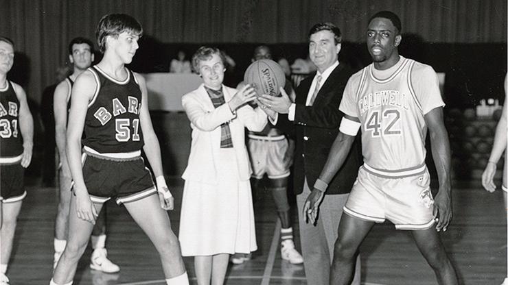 Sir Jennings Receiving a Basketball