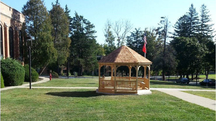 Gazebo at Caldwell University dedicated to the community service efforts of students.