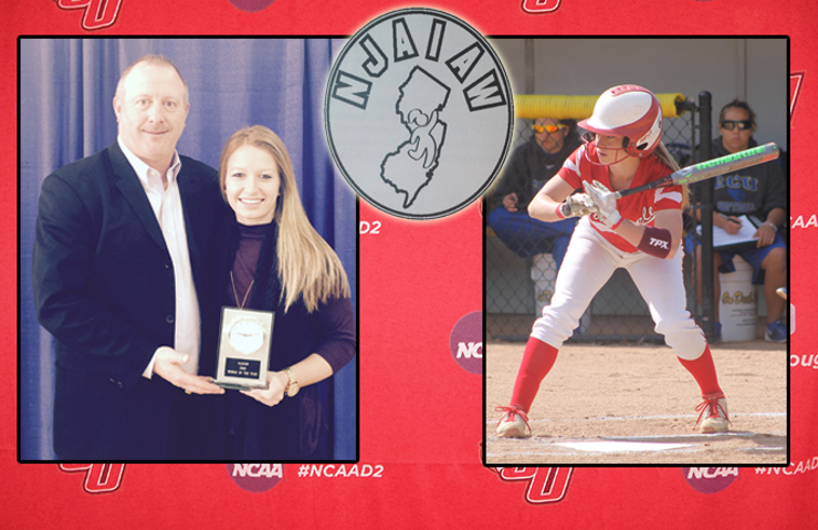 Senior Caitlin McCready honored by the New Jersey Association of Intercollegiate Athletics for Women as Caldwell's Woman of the Year on Sunday afternoon.