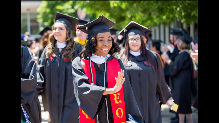 Students at 75th annual commencement