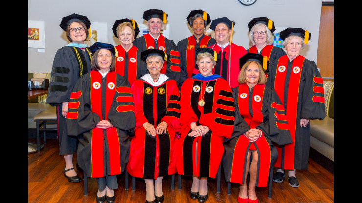 Faculty Guests for 75th annual commencement