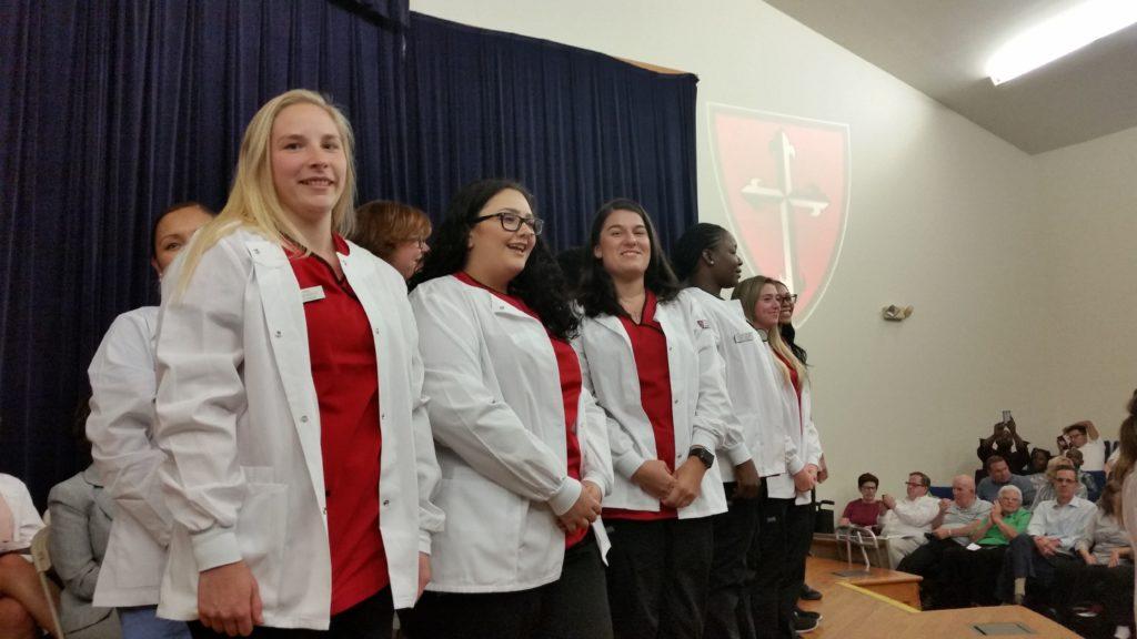 Nursing Students at White Coat Ceremony