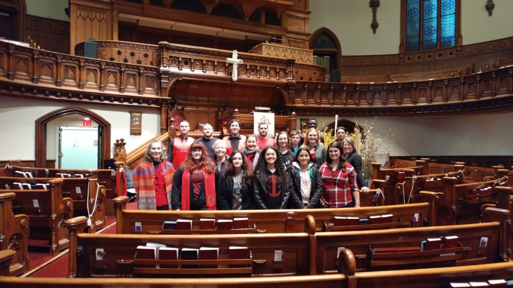 CU Choral members in a group photo