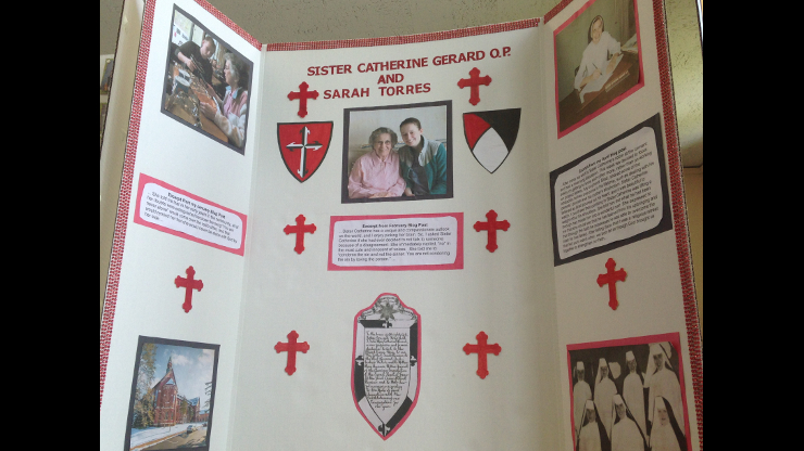 Poster about Sr. Catherine Gerard Kirchner presented by Sarah Torres