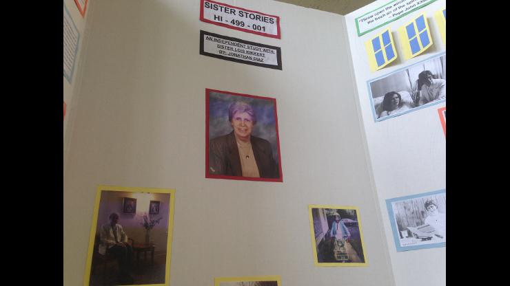 Poster about Sr. Lois Kikkert presented by Jonathan Diaz