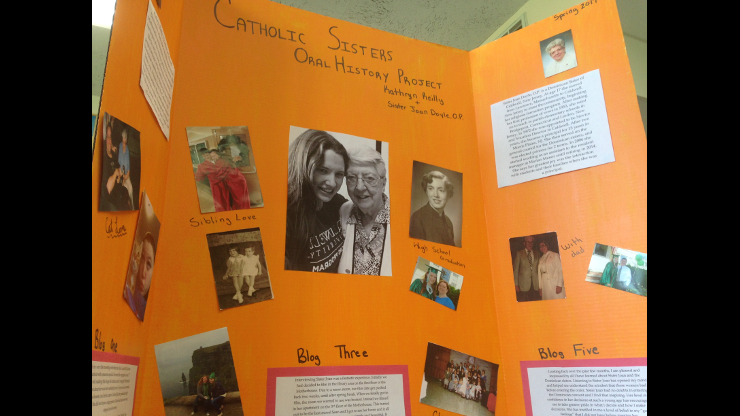 Poster about Sr. Joan Doyle presented by Kathryn Reilly