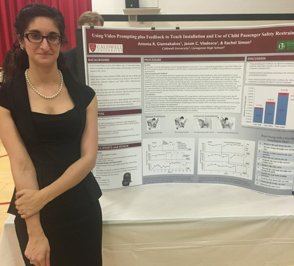 Antonia Giannakakos is pictured here participating in the Caldwell University Research and Creative Arts Day.