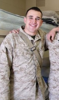 Communications and Media Studies student Brandon Young served in the Marine Corp as a corporal and team leader.
