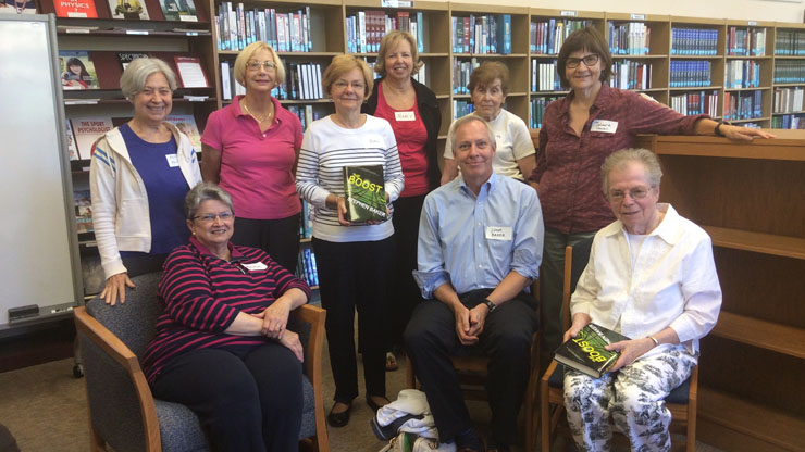 Jennings Library book group with Stephen Baker
