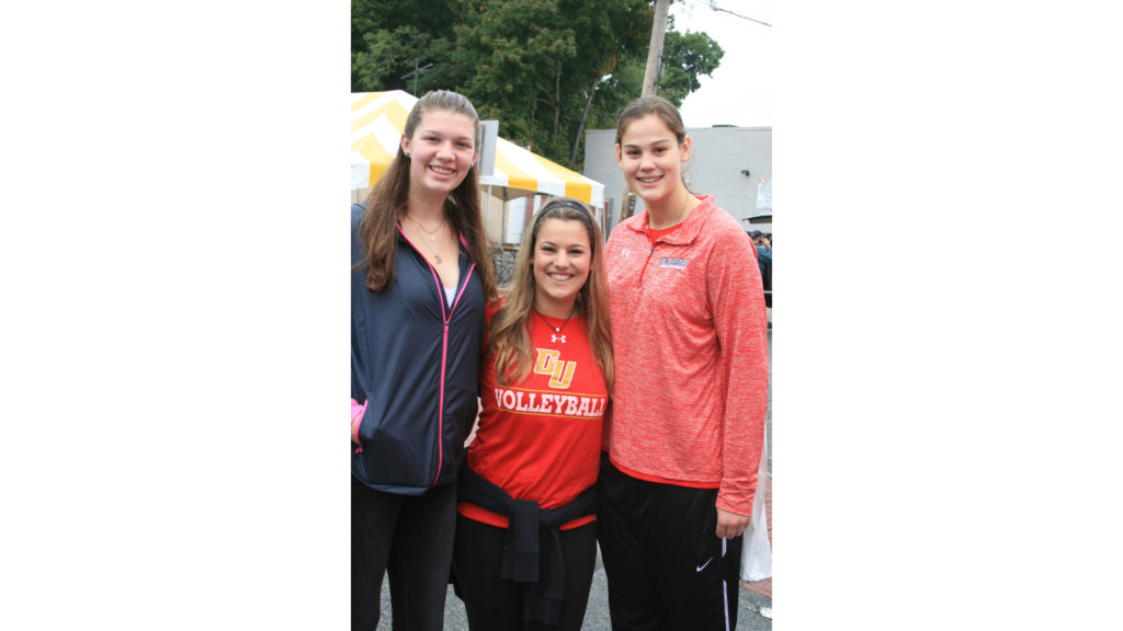 CU volleyball players at Street Fair 2016