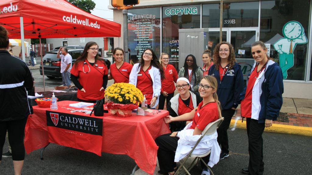 Caldwell University Nursing students at Street Fair 2016