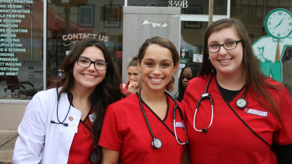 Nursing Students at Street Fair 2016