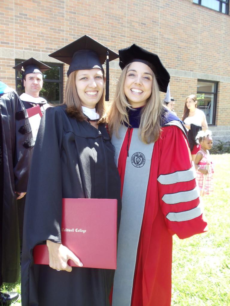 Caldwell graduate student Danielle Schatz with her advisor Ruth DeBar