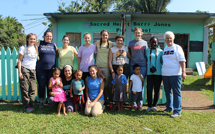Caldwell University student on the annual volunteerism trip to the Central American country