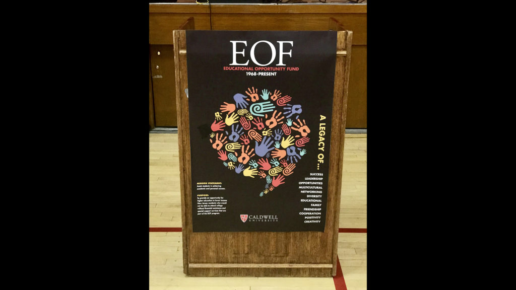 Board on Display during the 50th Anniversary of Education Opportunity Funding.