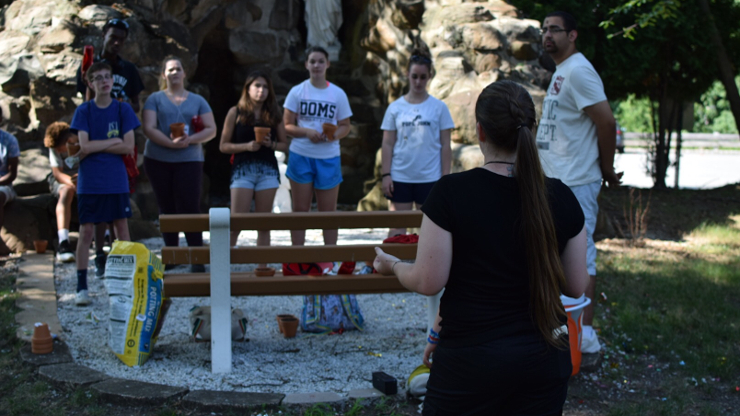 High school students gathering for Spirituality and Leadership Institute